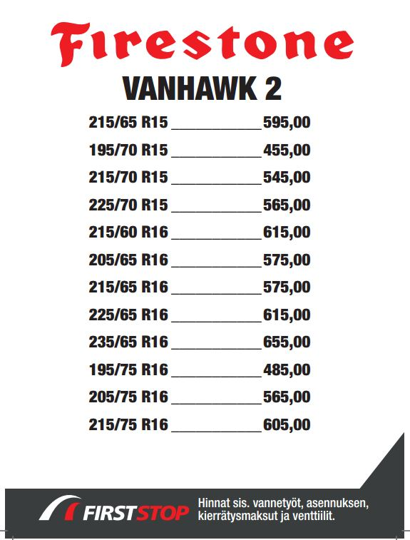 Firestone Vanhawk2